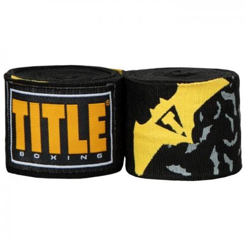Бинты боксерские эластичные TITLE Boxing ElasticCrusader 4,5м Черные