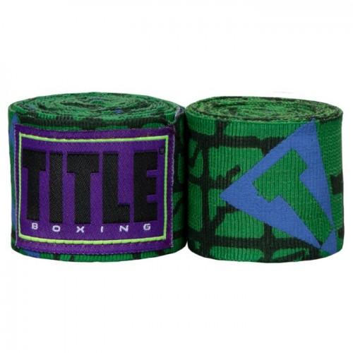 Бинты боксерские эластичные TITLE Boxing Elastic Goliath 4,5м Зеленые