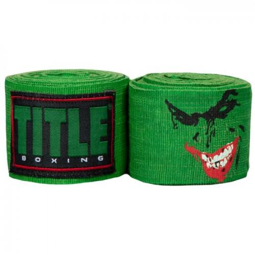 Бинты боксерские эластичные TITLE Boxing Elastic Jester 4,5м Зеленые