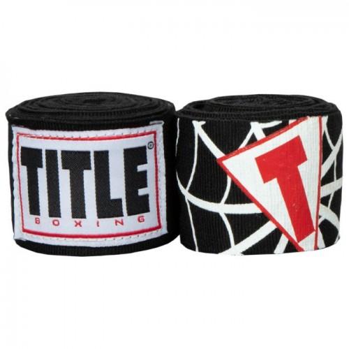 Бинты боксерские эластичные TITLE Boxing Elastic Hero 4,5м Черные