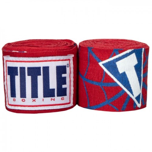 Бинты боксерские эластичные TITLE Boxing Elastic Hero 4,5м Красные