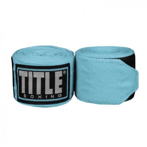 Бинты боксерские эластичные TITLE Boxing Fight Back Semi-Elastic 4,5м Блакитні