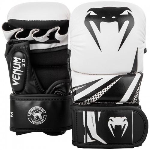 Перчатки MMA Sparring Venum Challenger 3.0 (M) Белые с черным