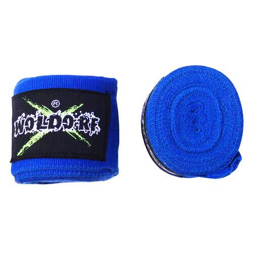 Бинты боксерские эластичные Woldorf 3м Синие