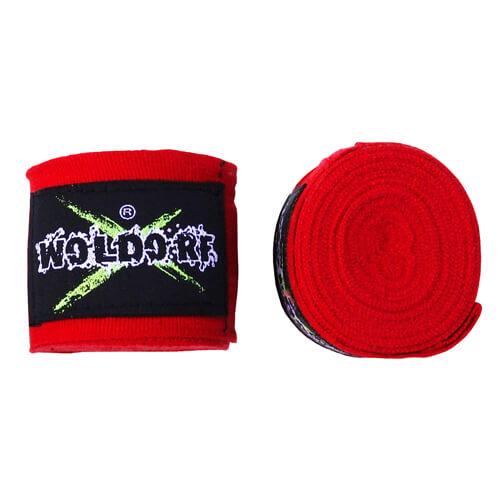 Бинты боксерские эластичные Woldorf 3м Красные